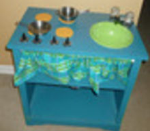 play kitchen from 5 tv stand, chalk paint, chalkboard paint, crafts, painted furniture, repurposing upcycling