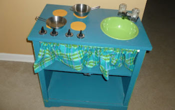 Play Kitchen from $5 TV Stand