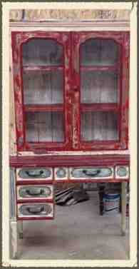 shabby farmhouse style cabinet, painted furniture