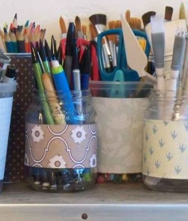 organize and pretty up your craft space, organizing