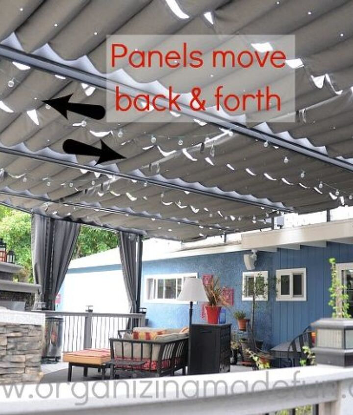 Panels move back and forth