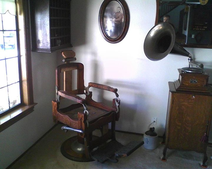 koken barber chair restoration, painted furniture - Koken Barber Chair Restoration Hometalk