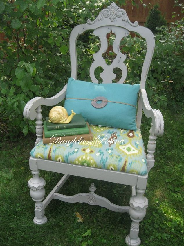 ikat accent chair, painted furniture