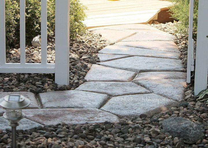 Quick Set Stone Shaped Walkway