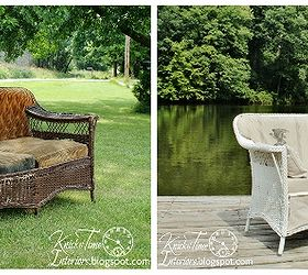 Marvelous Antique Wicker Sofa Gets A Seed Bag Makeover, Painted Furniture, Wicker Sofa  Makeover