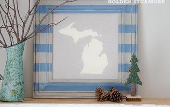diy state map art, crafts