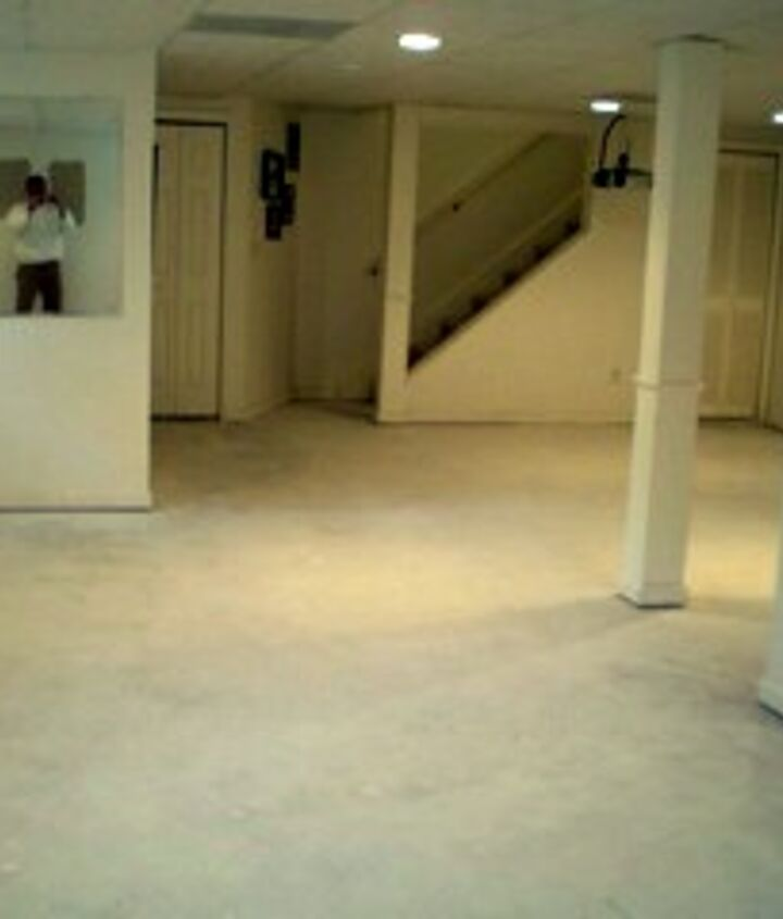 As we have cleaned and prepped the room, when dry, the floor looks white