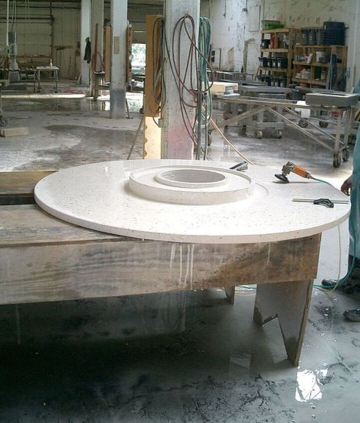 Water fountain top for a DIFFA event