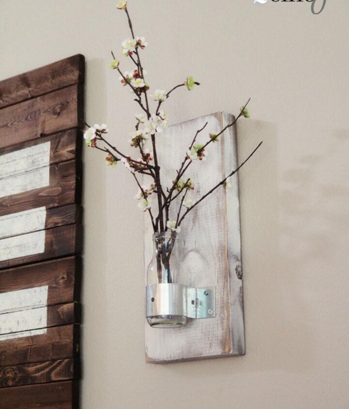 diy coffee bottle wall vase, crafts, repurposing upcycling