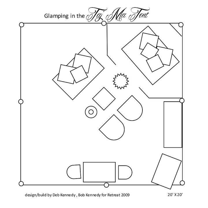 the floorplan. http://homewardfounddecor.blogspot.com/2013/06/glamping-with-style.html