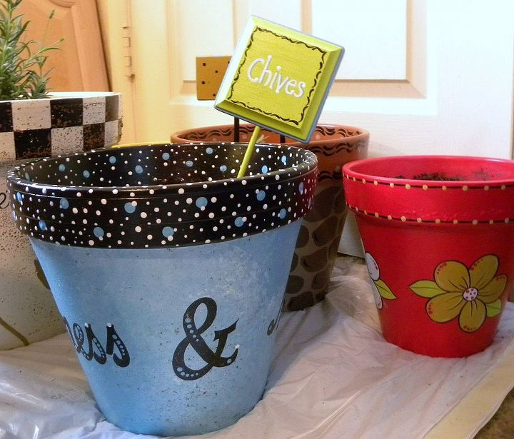 Painted Clay Pots by GranArt