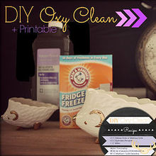 diy oxyclean recipe printable recipe label, cleaning tips