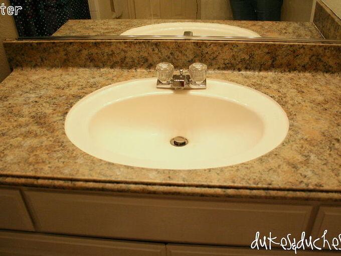 a bathroom counter makeover, bathroom ideas, countertops, painting