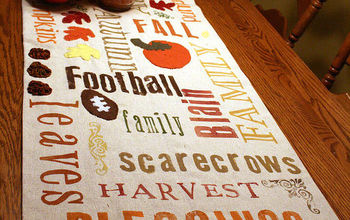 subway art fall table runner