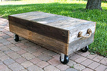 rustic coffee table from old cedar fence boards, diy, painted furniture, rustic furniture, Rustic coffee table made of aged cedar fence boards