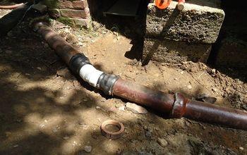 Video Repairing A Clay Drain Pipe
