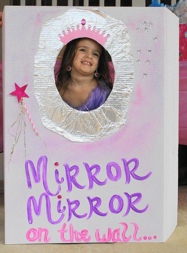 royal princess ball birthday party, crafts, science board flap back cut an oval hole use foil to have the mirror sprayed glue sprinkled glitter over it star rhinestones and wand paper straw tinsels glitter star all purchased at dollar tree crown a hobby lobby cupcake wrapper