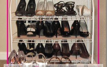 rework a wire shoe rack to hold stilettos, cleaning tips, closet, Rework a Wire Shoe Rack to Hold Stilettos