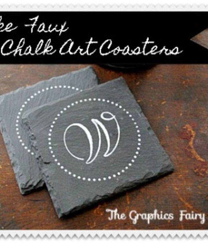 My Faux Chalk Art Coasters!