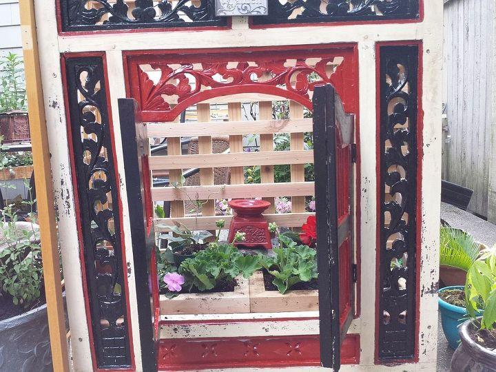 garden planter made from thrift shop framed mirror planter boxes, gardening, Garden planter from thrift store find