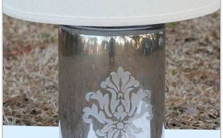 pb inspired diy mercury glass lamp from a vase, crafts, home decor, lighting, repurposing upcycling