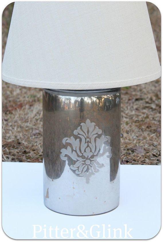 Pb Inspired Diy Mercury Glass Lamp From A Vase Hometalk