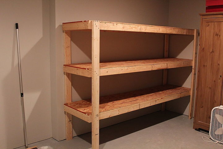 This is how the shelving unit looks  when completed..