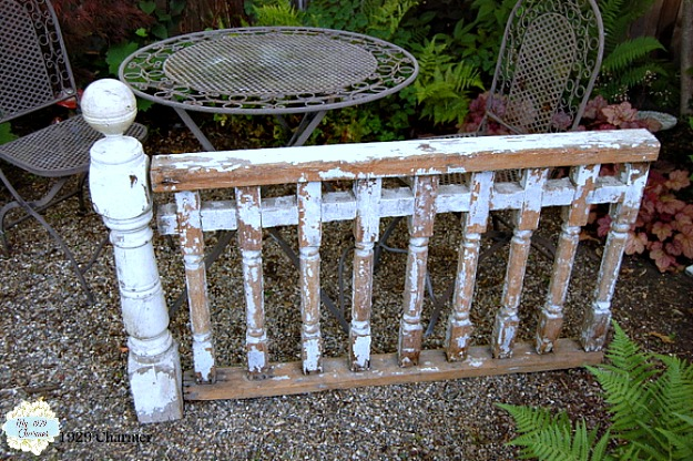 kitchen updo chippy cottage railing, home decor, kitchen design, repurposing upcycling, woodworking projects
