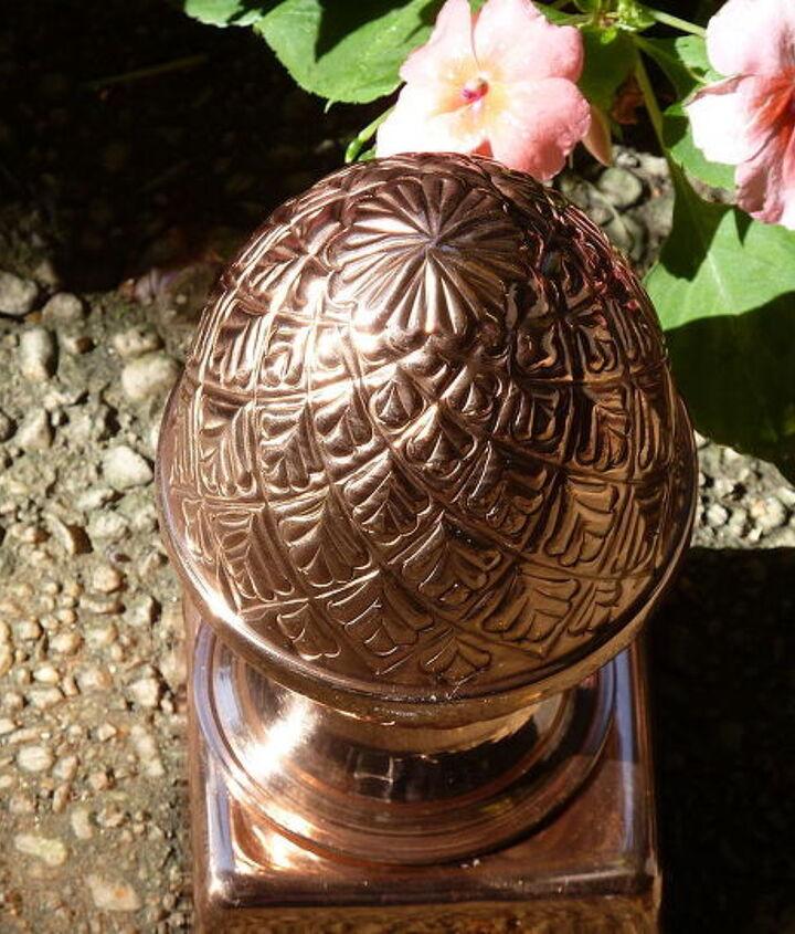 Copper caps I added to black-bordered, Monterey Lattice fence