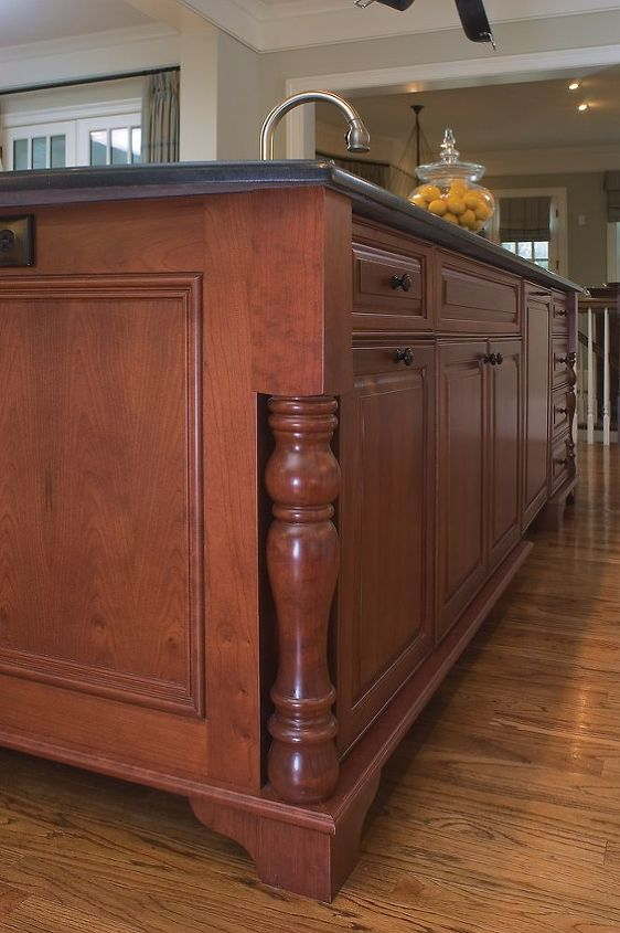 Island?  Check out the details of the flat trim at the bottom with the pedestal feet