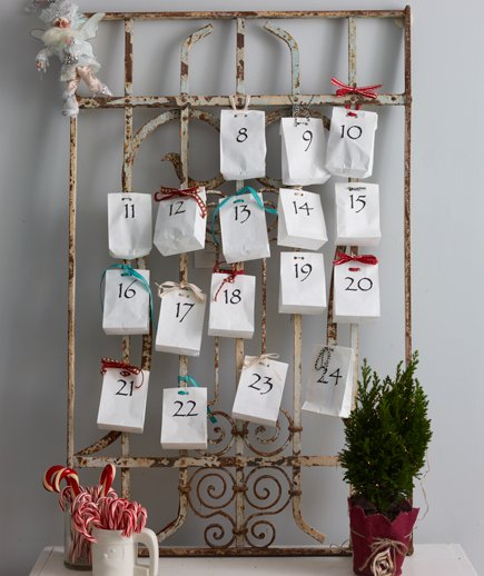 Make an advent calendar and fill the bags with your favorite candies and place near entry.