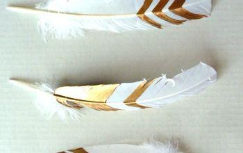 DIY Gold Leaf Feathers