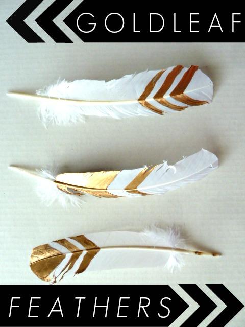 So easy! DIY Gold Leaf feathers.
