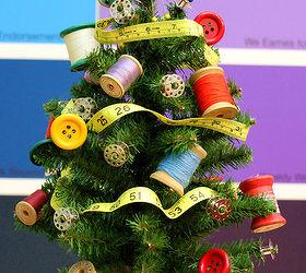 Sewing Themed Mini Christmas Tree, Christmas Decorations, Crafts, Seasonal  Holiday Decor, This