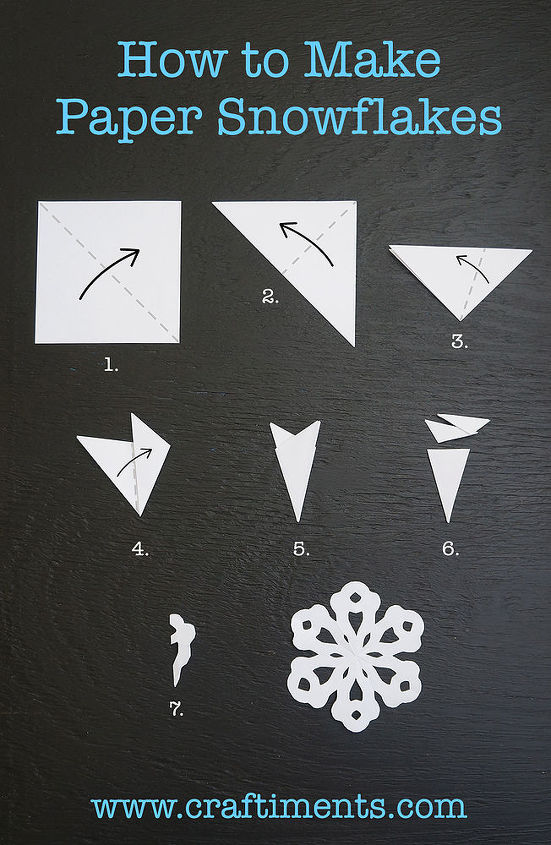 how to make a six sided paper snowflake, crafts