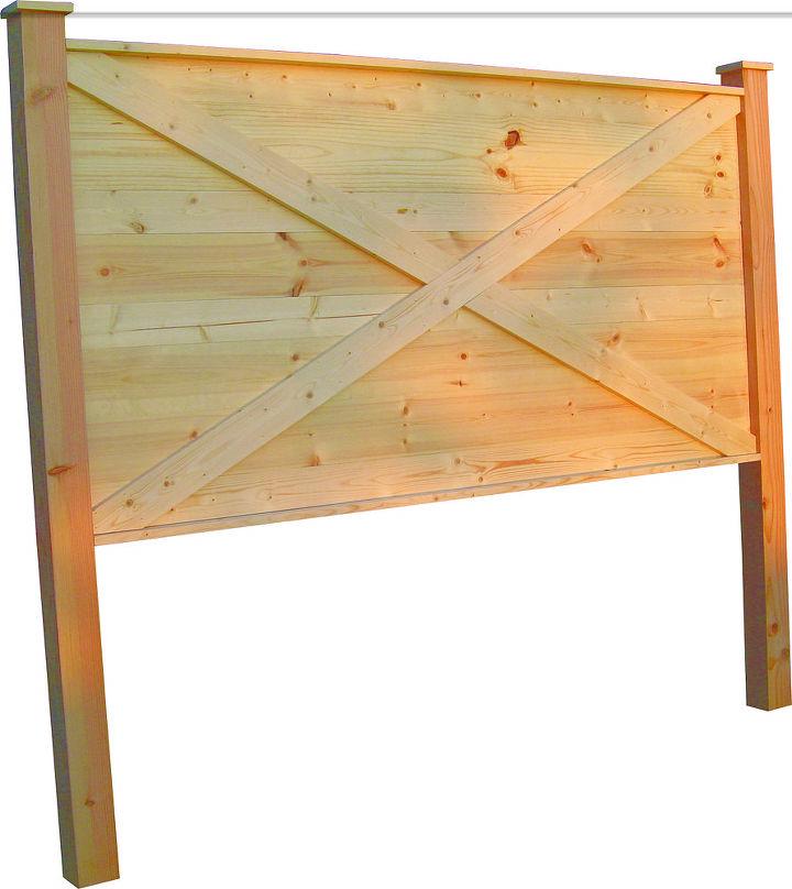 King size barn door style headboard.