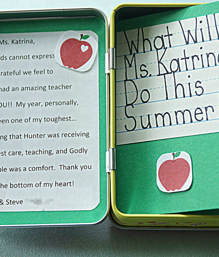 a meaningful teacher gift, crafts
