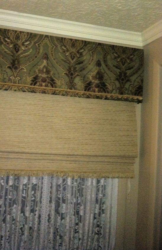 my no wood no foam board faux cornice, diy, home decor, window treatments, windows