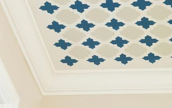 Learn How To Stencil a Fun Pattern on Your Ceiling