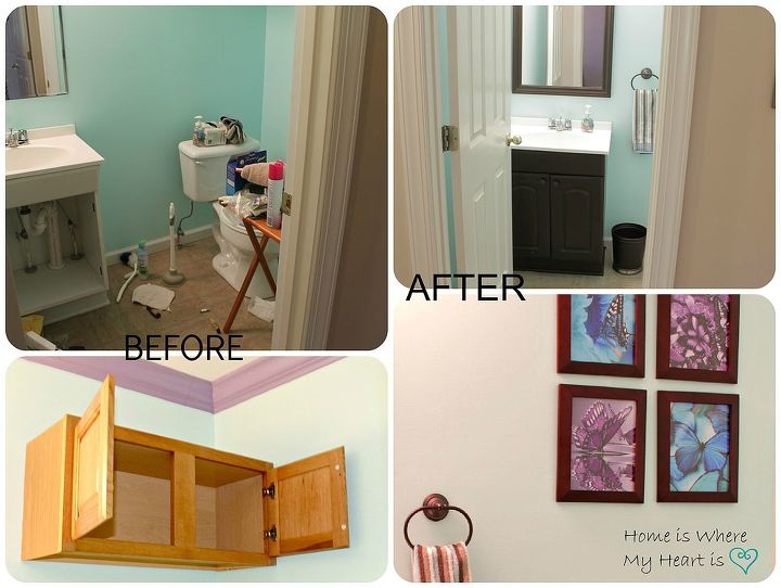Removed cabinetry and replaced with beautiful pictures