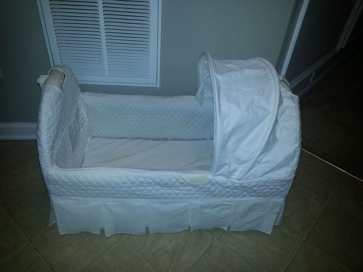 from bassinet to girl s desk, bedroom ideas, painted furniture