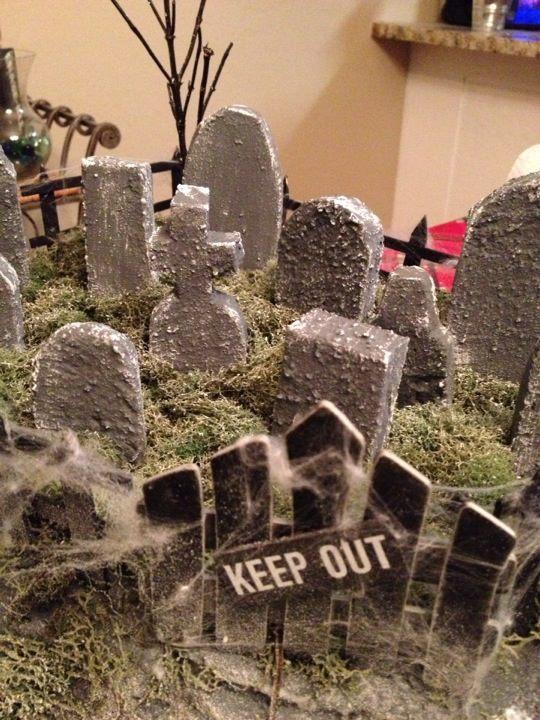 Haunted Christmas Village Cemetery 1