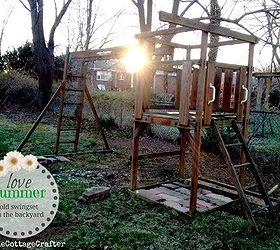 Old Swing Set Turned Garden, Diy, Gardening, Raised Garden Beds,  Repurposing Upcycling