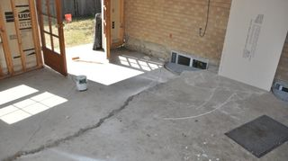 my 12 x 14 ft concrete patio is sinking in the middle towards the house it has sunk, concrete masonry, outdoor living, patio, cracked slab