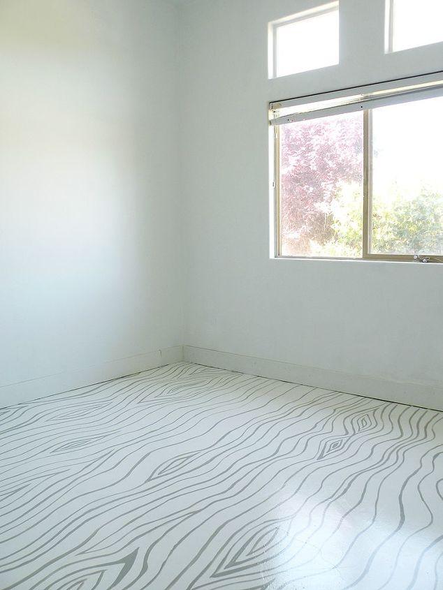 Faux Bois Painted Concrete Floors (Full Tutorial: http://www.vintagerevivals.com/2012/06/painted-concrete-floors.html)