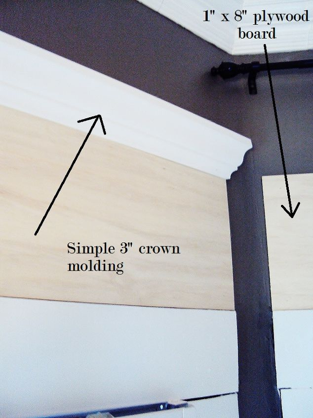 the 22 molding solution to the space above the windows, home decor, windows