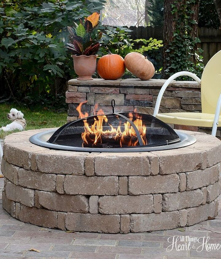 """Before I show you pictures of the """"before"""", how about a couple of photos of some of my favorite things in the space...like the fire pit!"""
