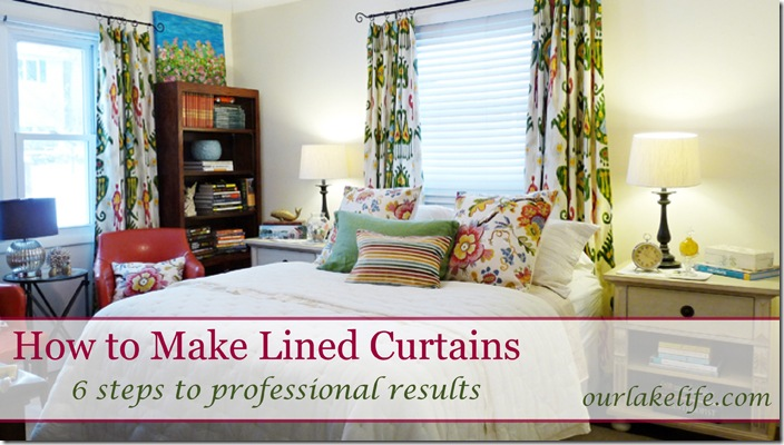 lined curtain panel tutorial, crafts, window treatments, windows, DIY Instructions for Sewing