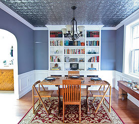 Fun Dining Room Makeover With A Tin Ceiling, Dining Room Ideas, Home Decor,