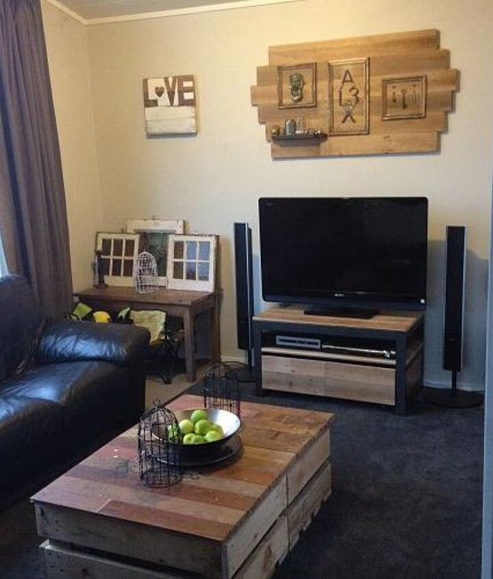 diy modern rustic inspired living room, home decor, living room ideas, painted furniture, rustic furniture
